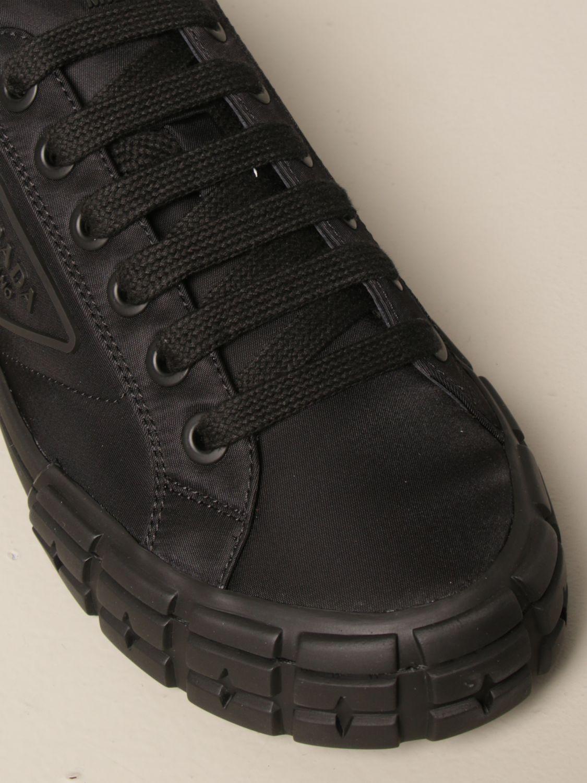 Sneakers Prada: Sneakers Prada in gabardine re-nylon con logo triangolare nero 4