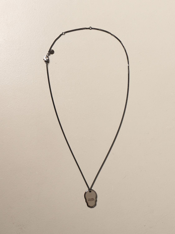 Jewel Alexander Mcqueen: Alexander McQueen necklace with skull-shaped pendant silver 1