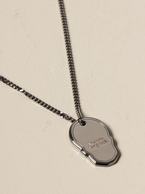 Jewel Alexander Mcqueen: Alexander McQueen necklace with skull-shaped pendant silver 3