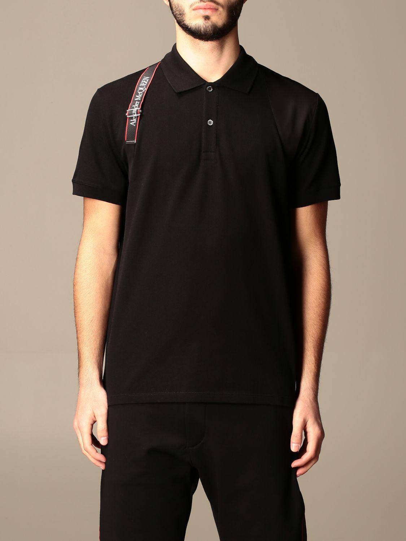 Polo shirt Alexander Mcqueen: Alexander McQueen polo shirt with logoed bands black 1