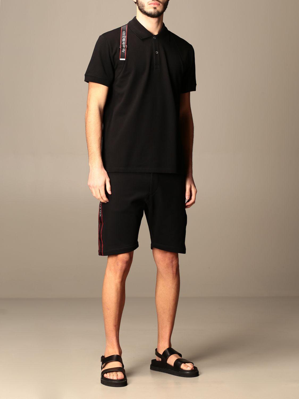 Polo shirt Alexander Mcqueen: Alexander McQueen polo shirt with logoed bands black 2