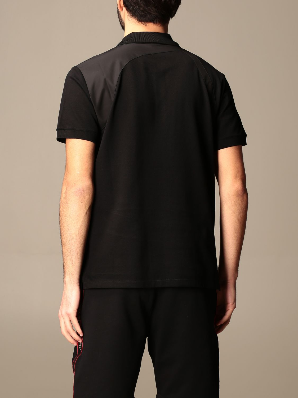 Polo shirt Alexander Mcqueen: Alexander McQueen polo shirt with logoed bands black 3