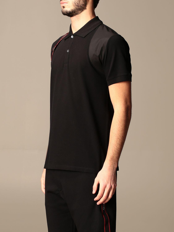 Polo shirt Alexander Mcqueen: Alexander McQueen polo shirt with logoed bands black 4
