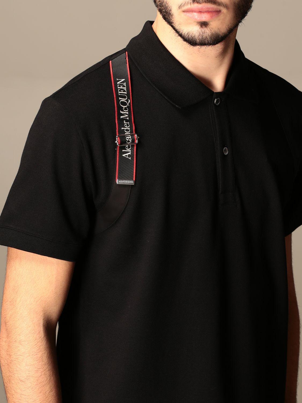 Polo shirt Alexander Mcqueen: Alexander McQueen polo shirt with logoed bands black 5
