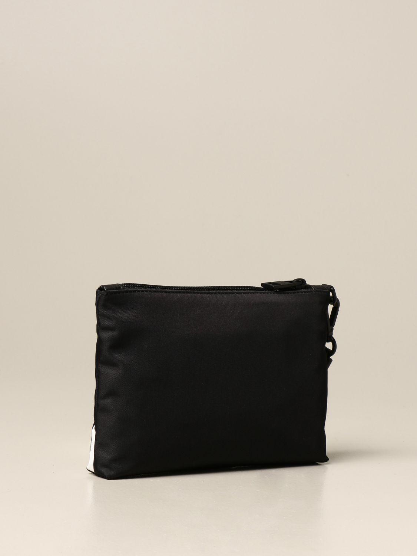 Portadocumenti Alexander Mcqueen: Pochette da polso Alexander McQueen in tela con banda logata nero 2