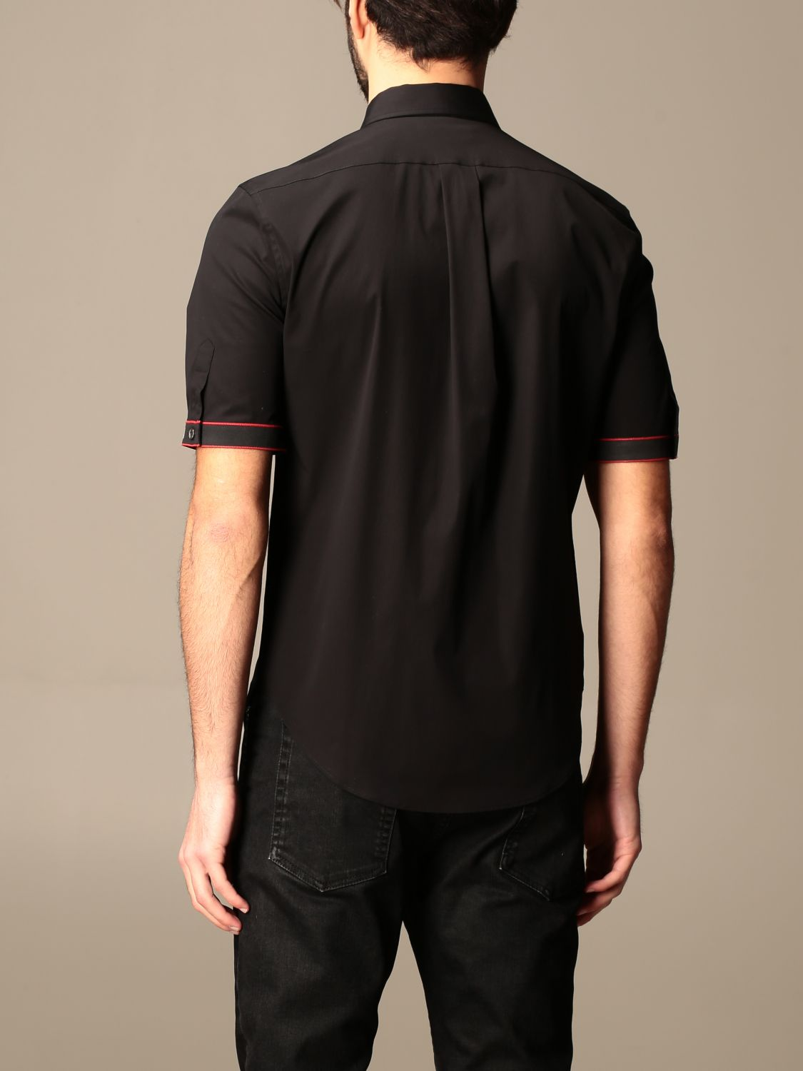 Shirt Alexander Mcqueen: Alexander McQueen shirt with logoed bands black 3