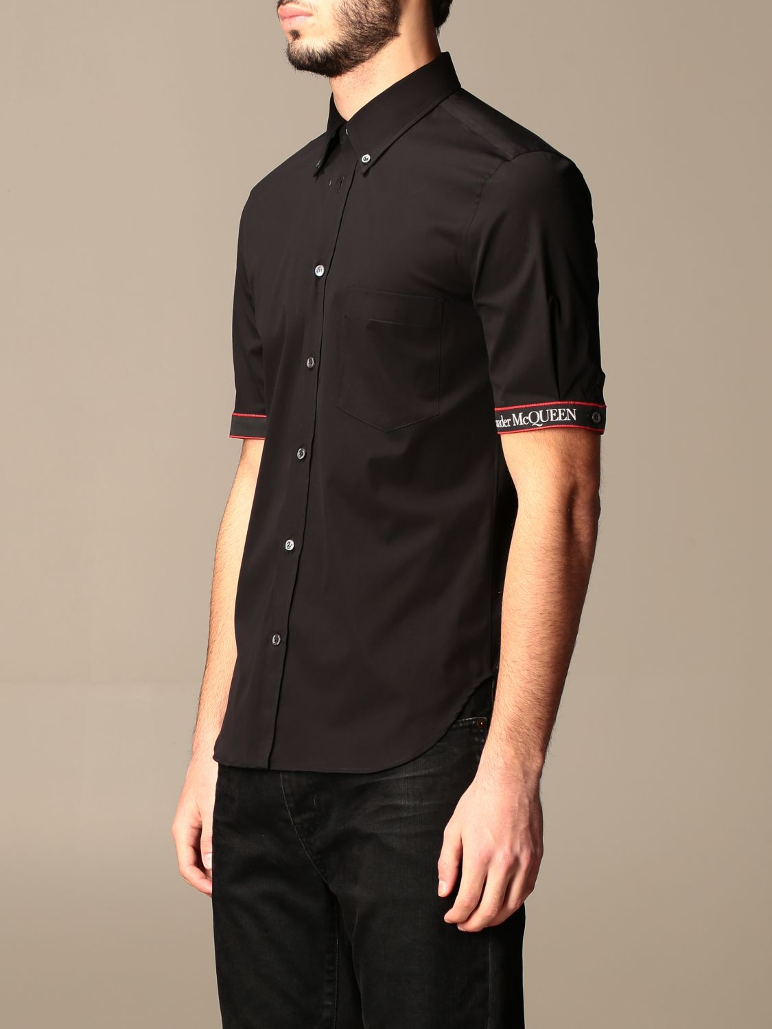 Shirt Alexander Mcqueen: Alexander McQueen shirt with logoed bands black 4