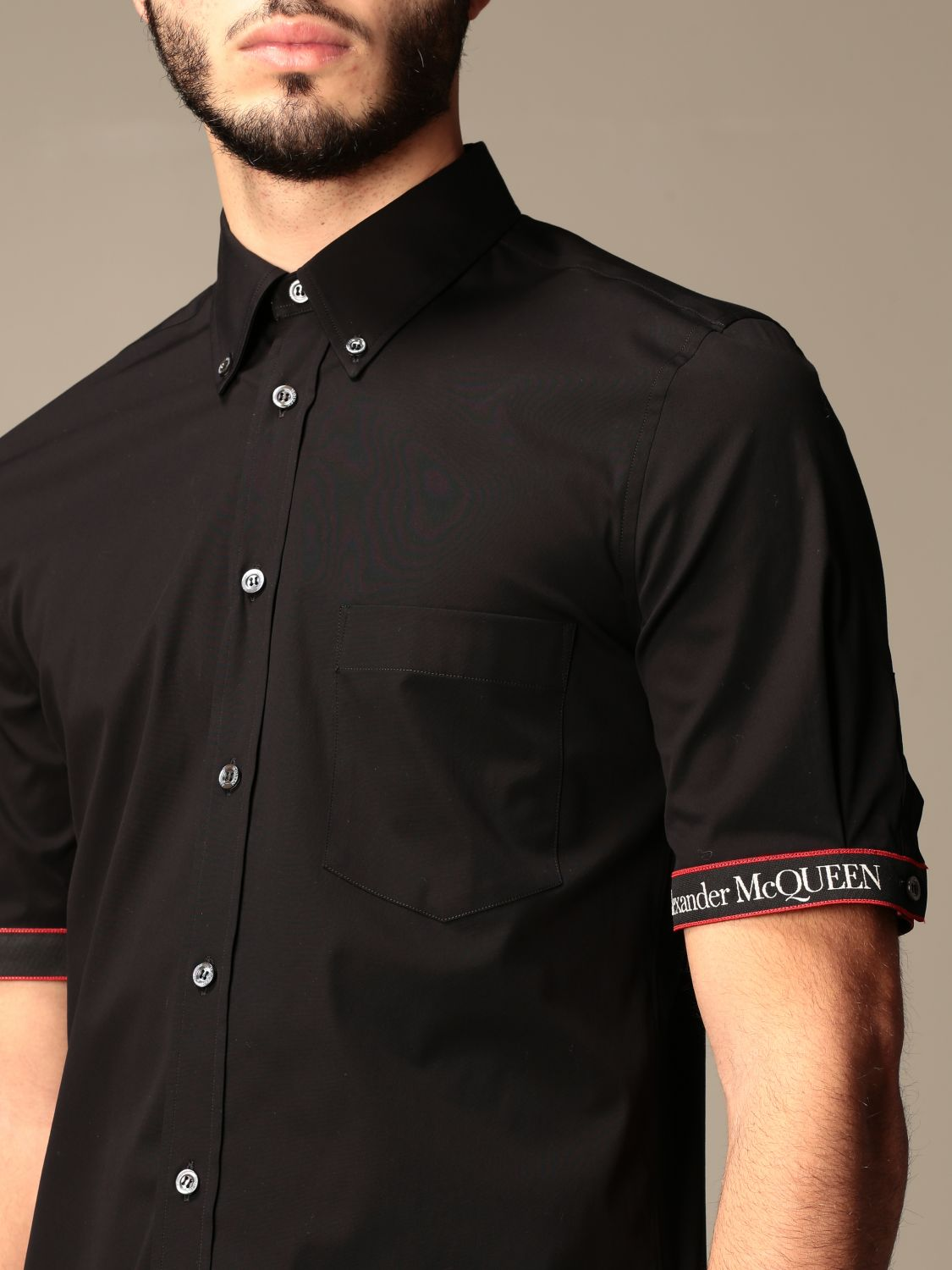 Shirt Alexander Mcqueen: Alexander McQueen shirt with logoed bands black 5