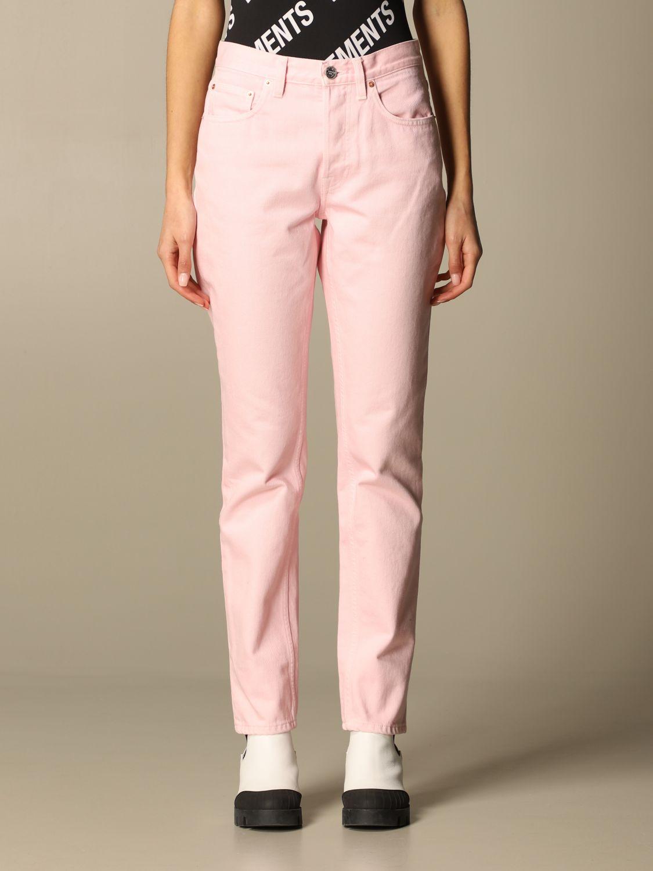 Jeans Vetements: Jeans women Vetements pink 1