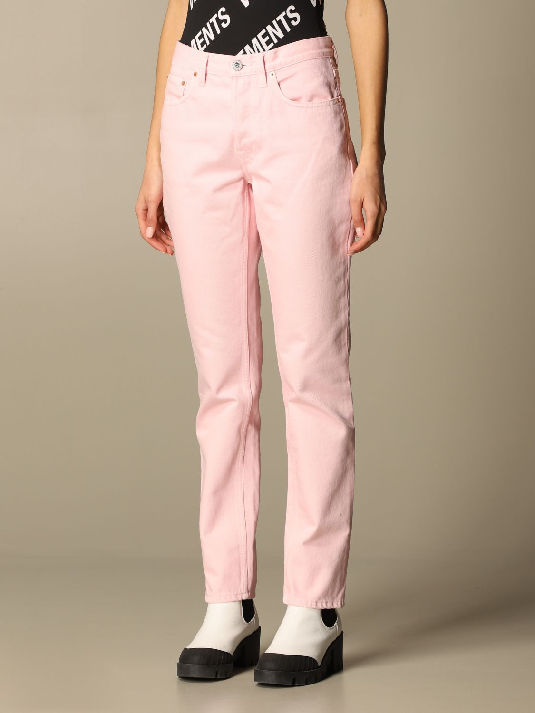 Jeans Vetements: Jeans women Vetements pink 4
