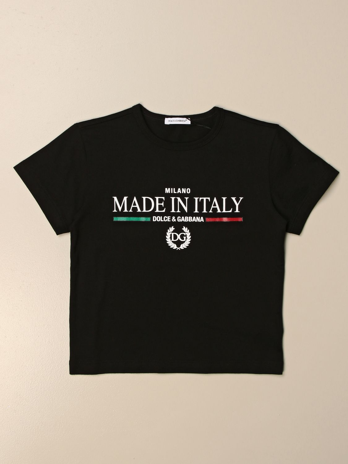 T-shirt Dolce & Gabbana: T-shirt Dolce & Gabbana in cotone con stampa Made in Italy nero 1