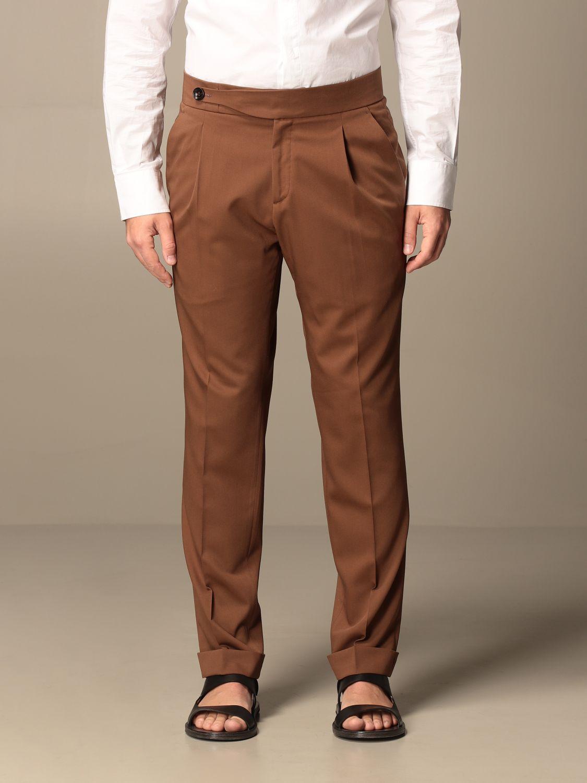 Pantalone Alessandro Dell'acqua: Pantalone classic Alessandro Dell'acqua tabacco 1