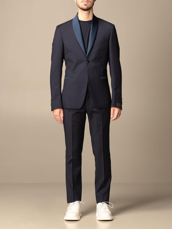 Suit Alessandro Dell'acqua: Alessandro Dell'acqua single-breasted suit in virgin wool blue 1