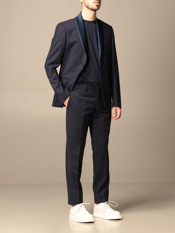Suit Alessandro Dell'acqua: Alessandro Dell'acqua single-breasted suit in virgin wool blue 2