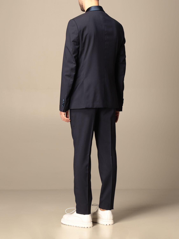 Suit Alessandro Dell'acqua: Alessandro Dell'acqua single-breasted suit in virgin wool blue 3