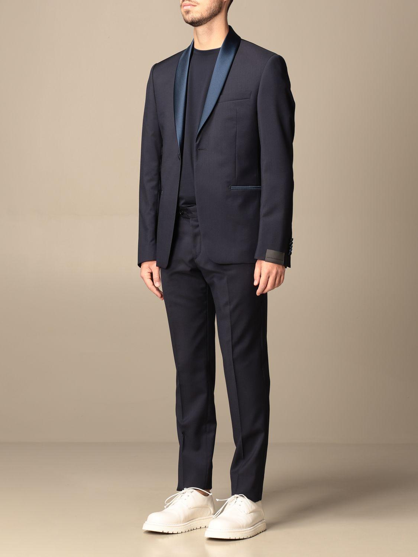 Suit Alessandro Dell'acqua: Alessandro Dell'acqua single-breasted suit in virgin wool blue 4