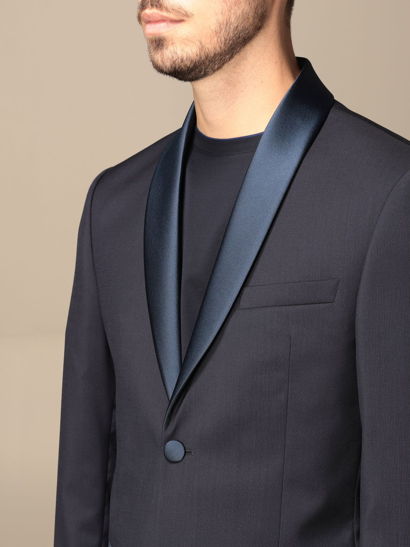 Suit Alessandro Dell'acqua: Alessandro Dell'acqua single-breasted suit in virgin wool blue 5