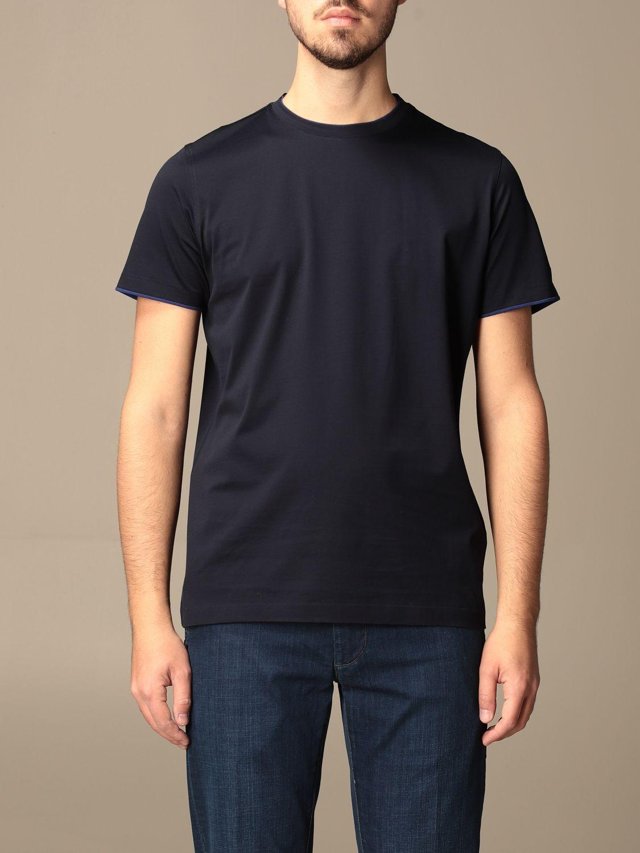 Camiseta Alessandro Dell'acqua: Camiseta hombre Alessandro Dell'acqua azul oscuro 1