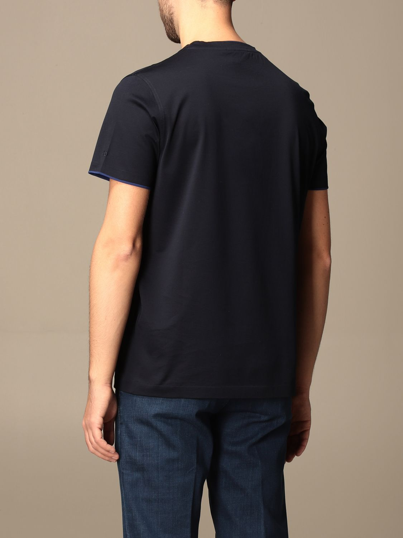Camiseta Alessandro Dell'acqua: Camiseta hombre Alessandro Dell'acqua azul oscuro 2