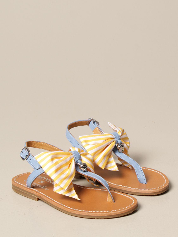 Chaussures Simonetta: Chaussures enfant Simonetta bleu azur 2