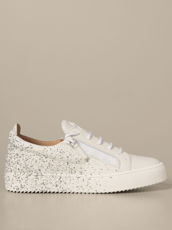 Sneakers Giuseppe Zanotti Design: Sneakers Frankie spray Giuseppe Zanotti Design in pelle bianco 1