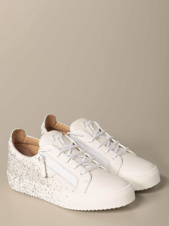 Sneakers Giuseppe Zanotti Design: Sneakers Frankie spray Giuseppe Zanotti Design in pelle bianco 2