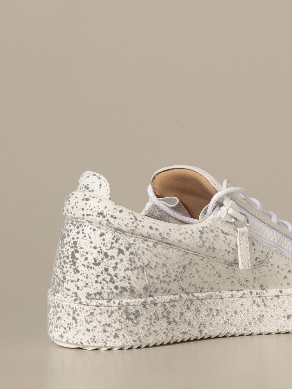 Sneakers Giuseppe Zanotti Design: Sneakers Frankie spray Giuseppe Zanotti Design in pelle bianco 3