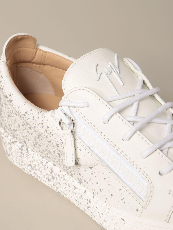 Sneakers Giuseppe Zanotti Design: Sneakers Frankie spray Giuseppe Zanotti Design in pelle bianco 4