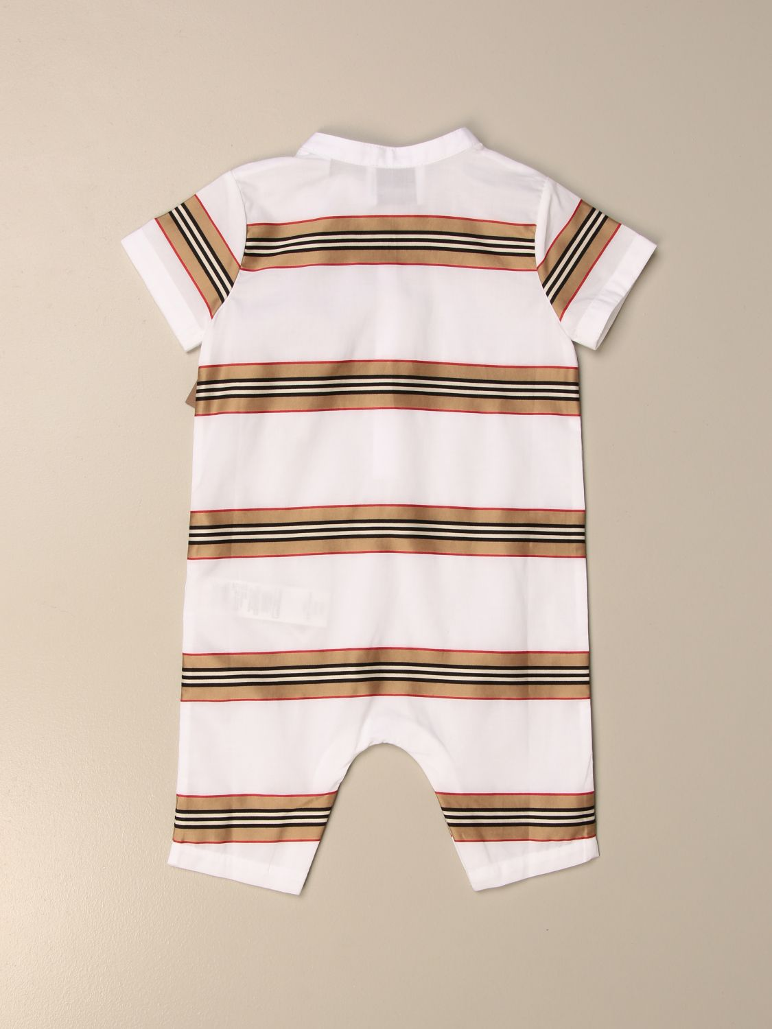 Tracksuit Burberry: Burberry long jumpsuit in vintage striped cotton white 2