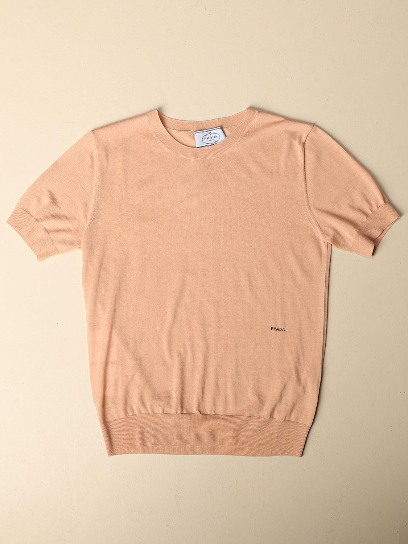 Maglia Prada: Maglia basic Prada di lana rosa 4