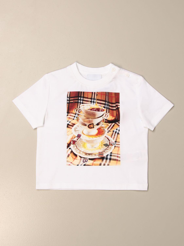 Camiseta Burberry: Camiseta niños Burberry blanco 1