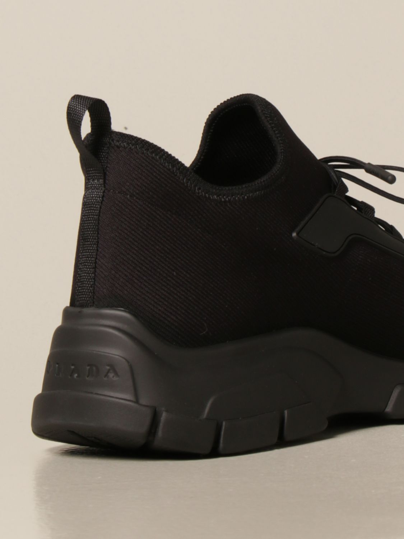 Sneakers Prada: Sneakers running Prada in tessuto elasticizzato nero 3