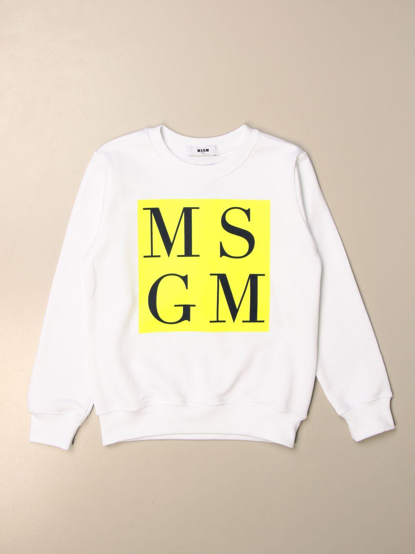 Sweater Msgm Kids: Msgm Kids crewneck sweatshirt with logo white 1