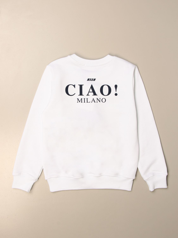 Sweater Msgm Kids: Msgm Kids crewneck sweatshirt with logo white 2