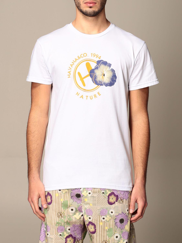 T-shirt Havana & Co.: T-shirt Havana & Co. in cotone con logo bianco 1