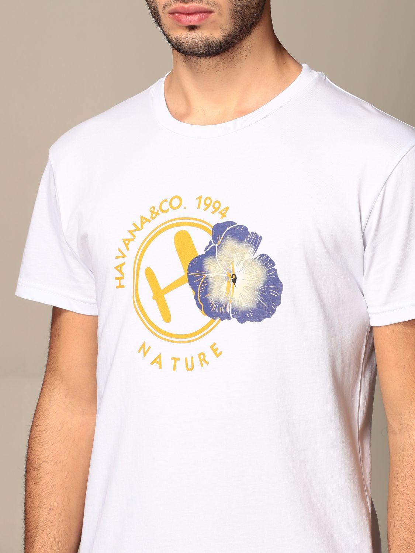 T-shirt Havana & Co.: T-shirt Havana & Co. in cotone con logo bianco 4