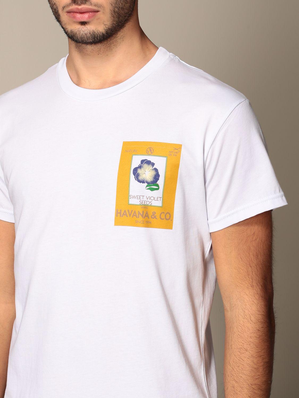 T-shirt Havana & Co.: T-shirt Havana & Co. in cotone con logo bianco 3