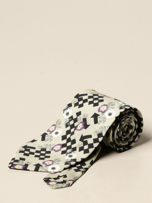 Cravatta Havana & Co.: Cravatta Havana & Co. in cotone a fantasia nero 1