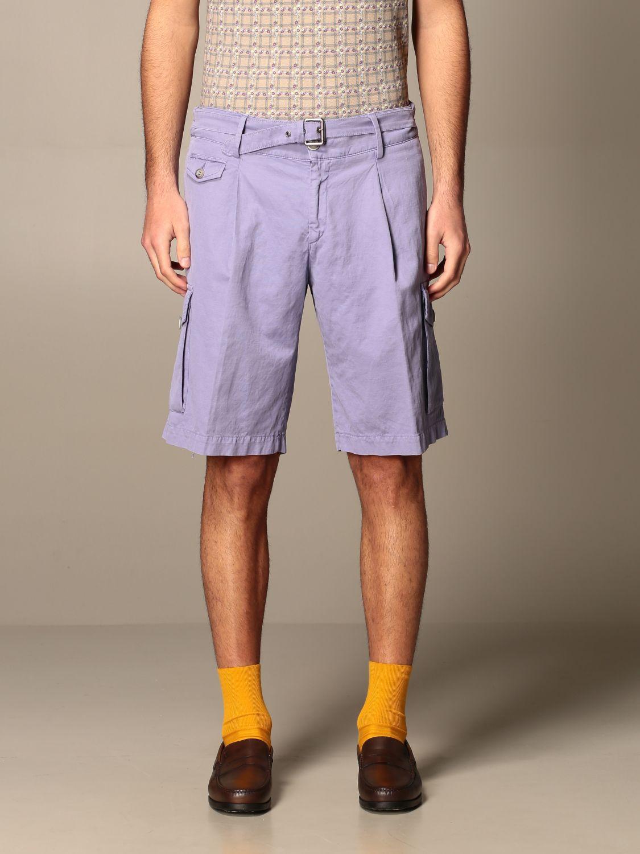 Pantaloncino Havana & Co.: Bermuda Havana & Co. in cotone e lino viola 1