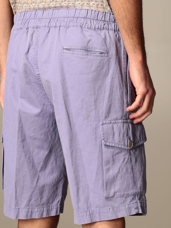 Pantaloncino Havana & Co.: Bermuda Havana & Co. in cotone e lino viola 4