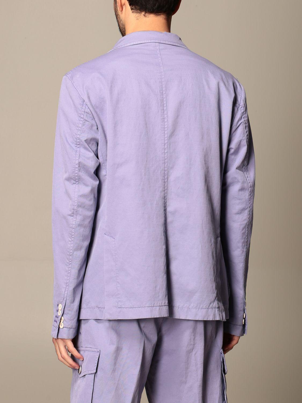 Blazer Havana & Co.: Giacca sahariana Havana & Co. in cotone e lino viola 3