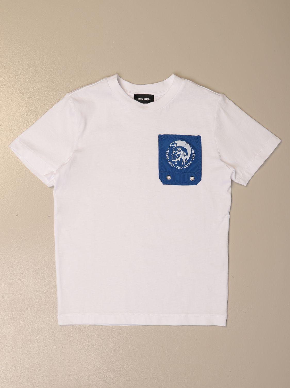 Camiseta Diesel: Camiseta niños Diesel blanco 1 1