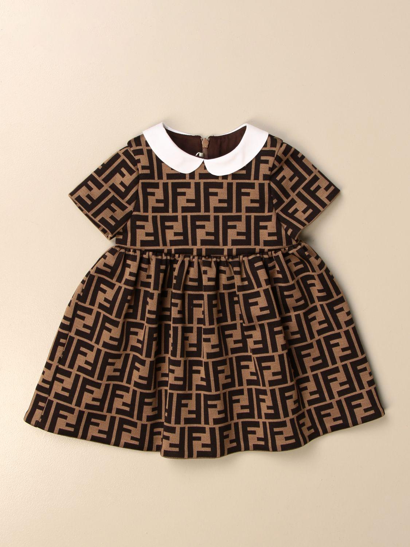 Robe Fendi: Robe enfant Fendi noisette 1