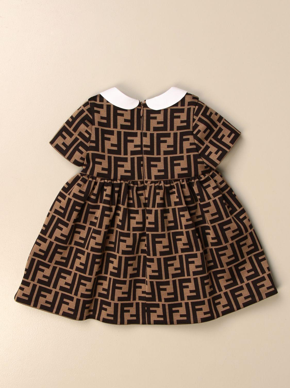 Robe Fendi: Robe enfant Fendi noisette 2