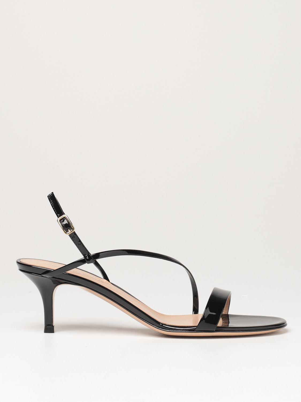 Sandalen mit Absatz Gianvito Rossi: Flache sandalen damen Sergio Rossi schwarz 1