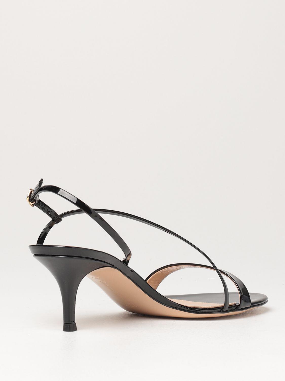 Sandalen mit Absatz Gianvito Rossi: Flache sandalen damen Sergio Rossi schwarz 3