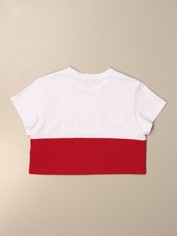 T-shirt Givenchy: T-shirt Givenchy cropped con big logo bianco 2