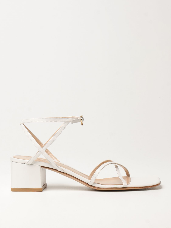 Sandalen mit Absatz Gianvito Rossi: Flache sandalen damen Sergio Rossi weiß 1
