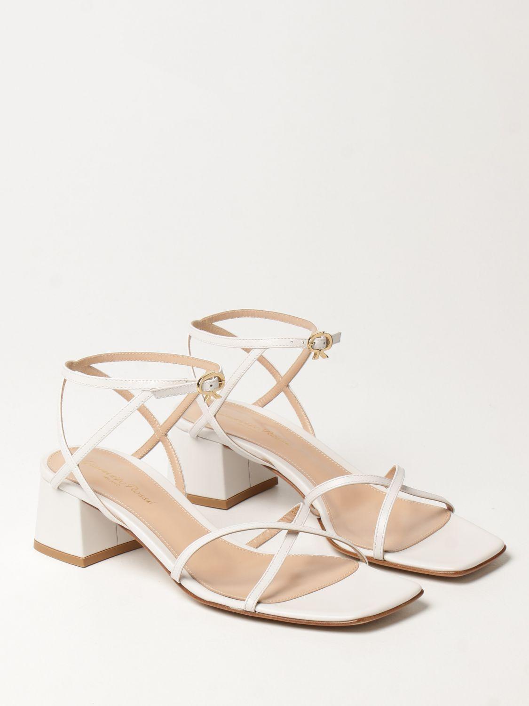 Sandalen mit Absatz Gianvito Rossi: Flache sandalen damen Sergio Rossi weiß 2