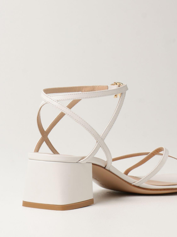Sandalen mit Absatz Gianvito Rossi: Flache sandalen damen Sergio Rossi weiß 3